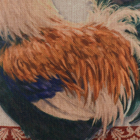 Image of French County Rooster Bed Cushion Cover