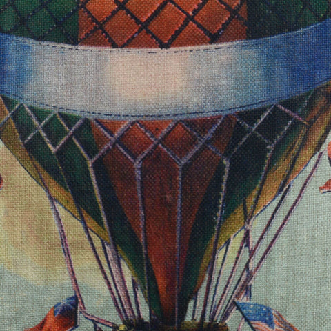 Historic Hot Air Balloon Chair Cushion Cover