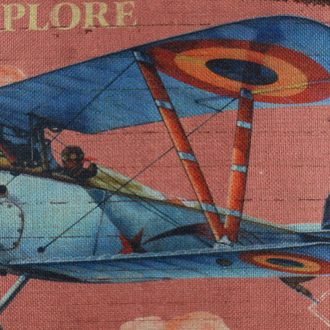 Classic Aircraft Decorative Cushion Cover