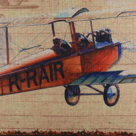 Image of Vintage Aeroplane Decorative Pillow Cover