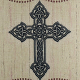 Black Holy Cross Pillow Cover