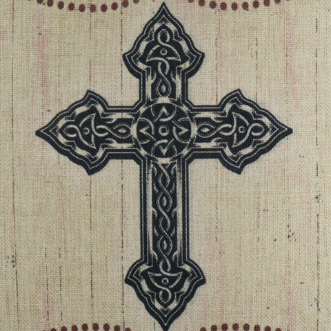 Image of Black Holy Cross Pillow Cover