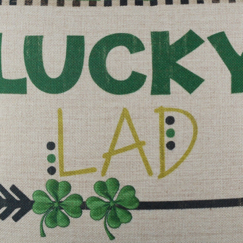 Image of Lucky Lad Saint Patrick's Day Pillow Cover