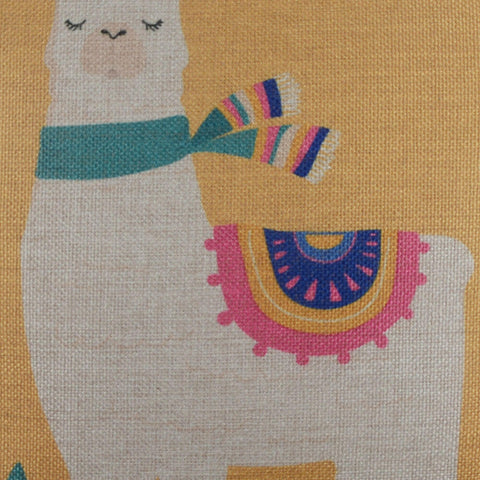 Image of Yellow Color Llama Pillow Cover