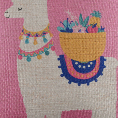 Image of Pink Llama Cushion Cover