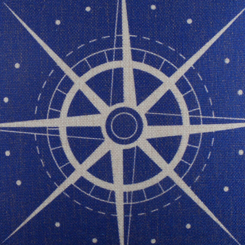 Image of Blue Sailor Compass Inspired Pillow Cover