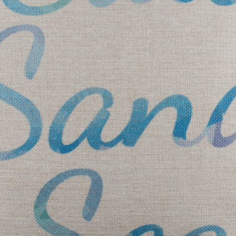 Blue Salt Sand and Sea Pillow Cover