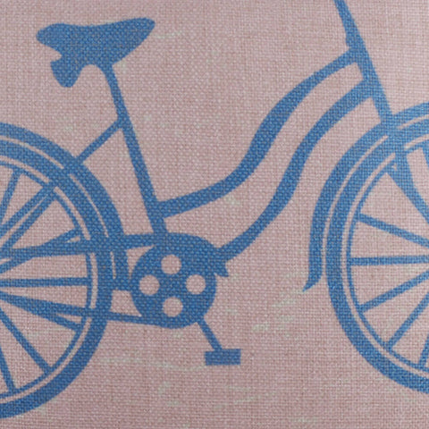 Image of Pink Blue Bike Pillow Cover