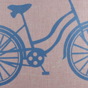 Pink Blue Bike Pillow Cover