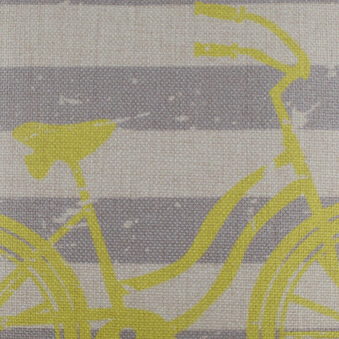 Image of Striped Bicycle Pillow Cover