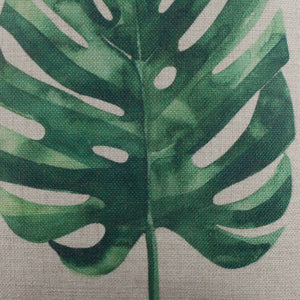 Tropical Green Leaf Pillow Cover