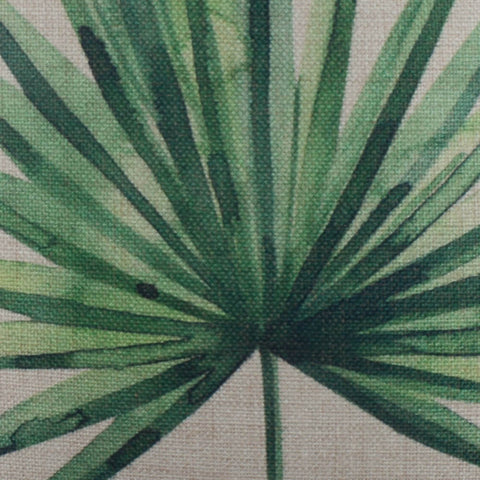 Image of Summer Palm Leaf Pillow Cover