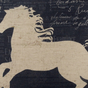 Linkwell Black Horse Cushion Cover