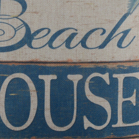 Image of Blue Shell Beach House Pillow Cover