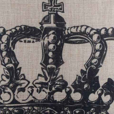 Black Queen Crown Pillow Cover