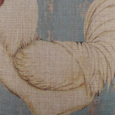 Image of Blue Cockerel Pillow Cover