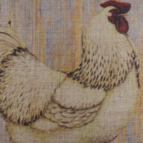 Wooden Hen Pillow Cover