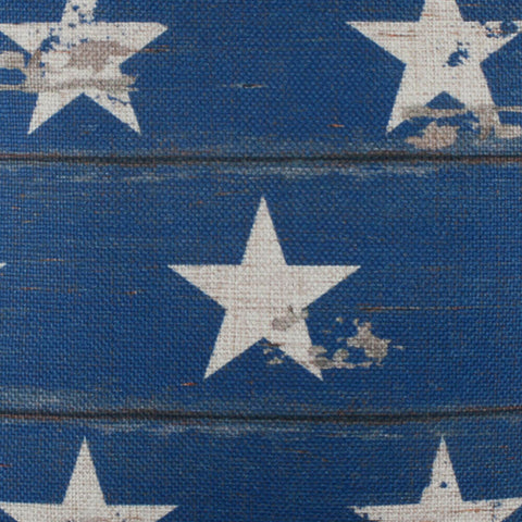 Image of Blue and White Stars Pillow Cover