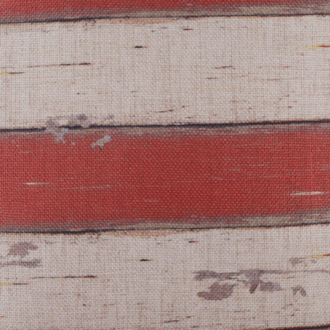 Image of Red White Striped Pillow Cover