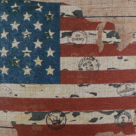 Image of American Map Wood Pillow Cover