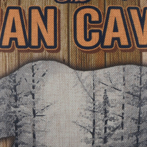 Image of Welcome to the Man Cave Pillow Cover Bear Forest