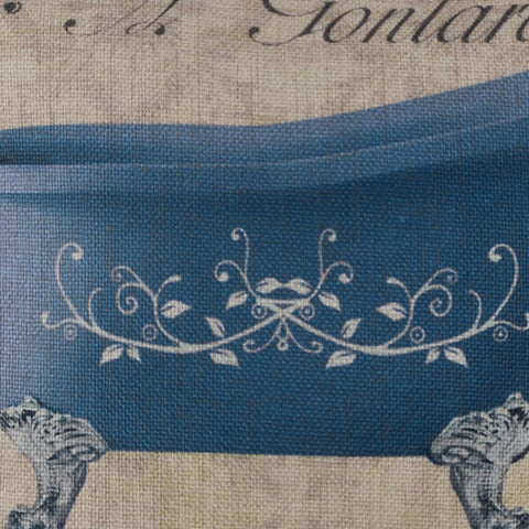 Blue Porcelain Bathtub Pillow Cover