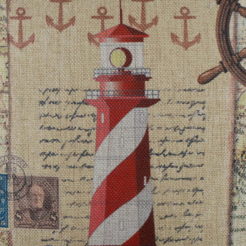 Vintage Lighthouse Pillow Cover
