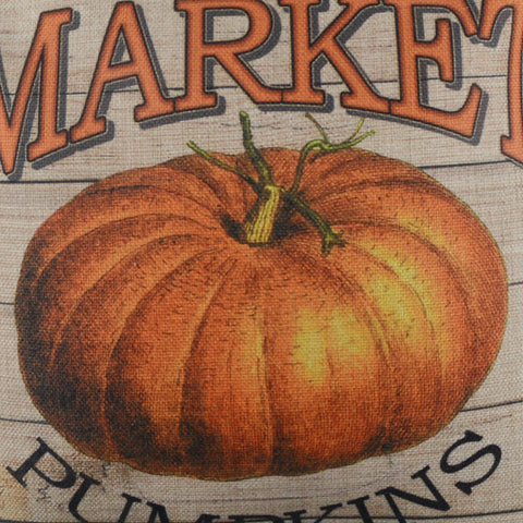 Image of Farmer's Market Pumpkins Happy Fall Harvest Pillow Cover