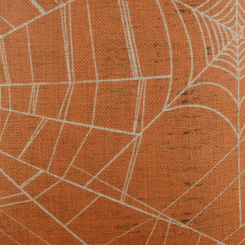 Image of Vintage Orange Spider Web Cushion Cover for Halloween