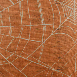 Vintage Orange Spider Web Cushion Cover for Halloween