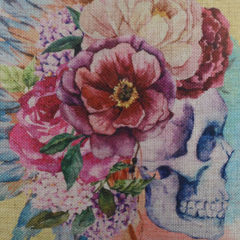 Image of Watercolor Sugar Skull Pillow Cover