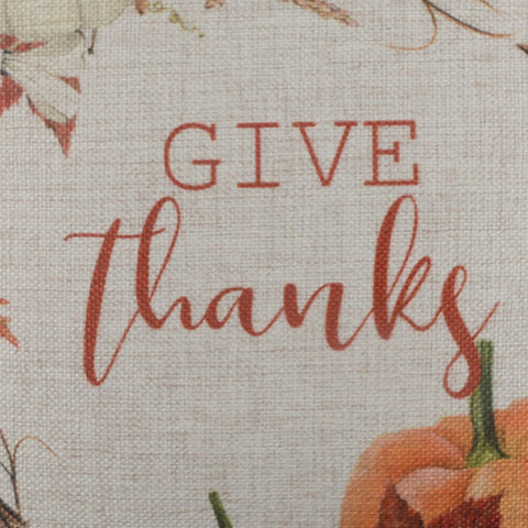 Give Thanks Fall Wreath Pillow Cover
