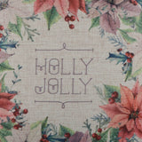 Holly Jolly Wreath Pillow Cover