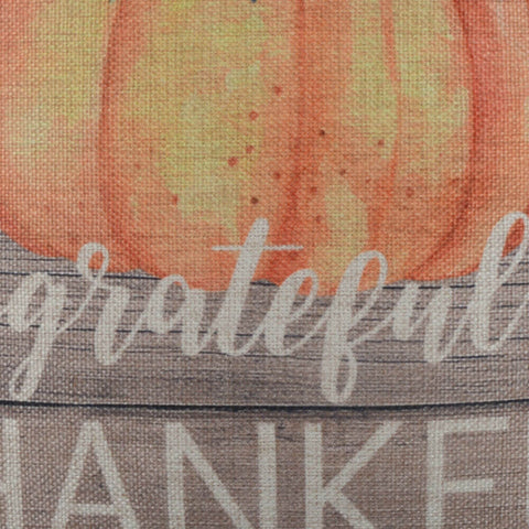 Image of Grateful Thankful Blessed Pumpkin Pillow Cover for Thanksgiving Day