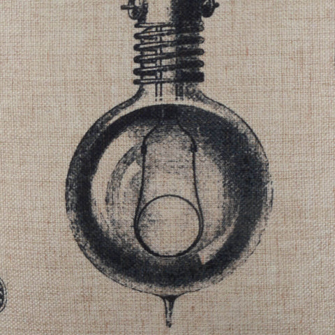 Bulb Patent Industrial Pillow Cover