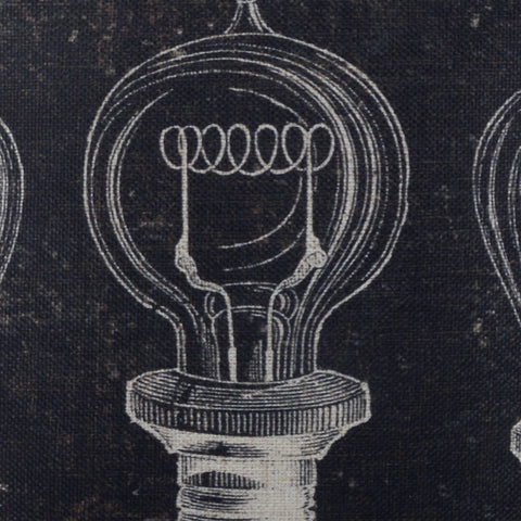 Image of Black Bulb Patent Cushion Cover