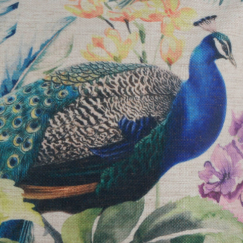 Image of Peacock Spring Pillow Covers 18x18