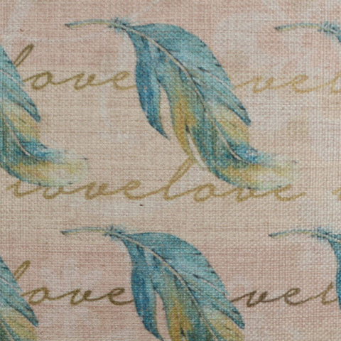 Image of Vintage Blue Feather Pillow Cover