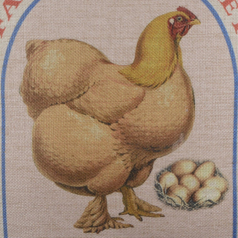 Farmhouse Hen Farm Eggs Pillow Cover