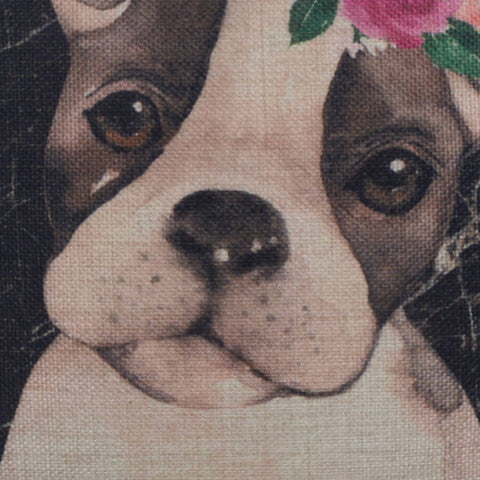 Image of Cute Pet Watercolor Dog Pillow Cover
