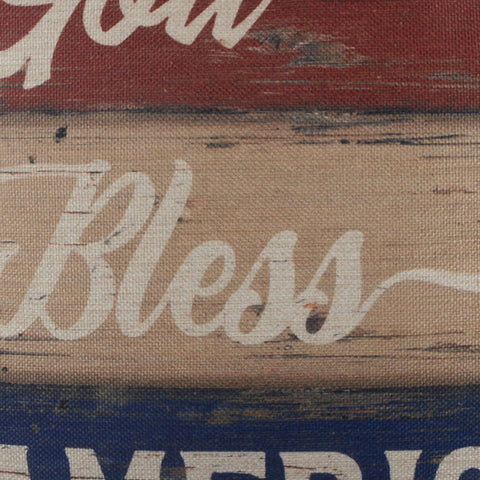 Image of God Bless America Cushion Cover for 4th of July Decoration