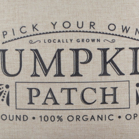 Image of Pick Your Own Pumpkin Patch Pillow Cover for Happy Harvest Day