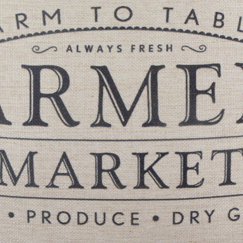 Farm to Table Farmers Market Pillow Cover