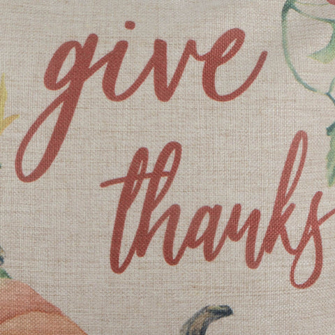 Image of Give Thanks Pumpkin Fall Pillow Cover