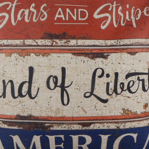 Metal Board Americana Decor Pillow Cover