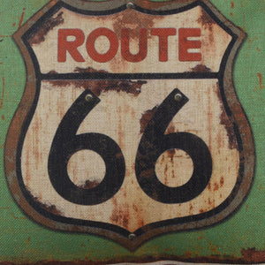 2020 Rusted Route 66 Merry Christmas Pillow Cover