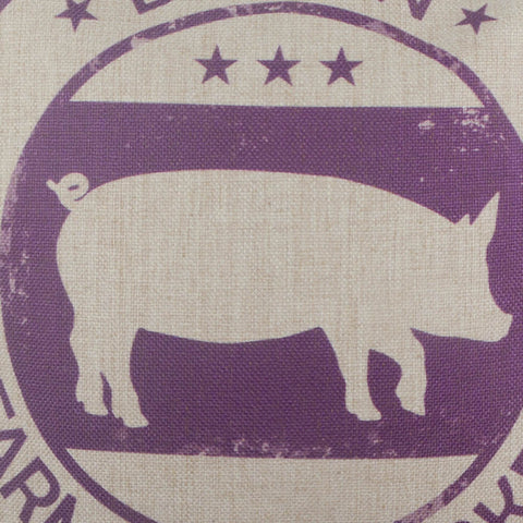 Image of Purple Farmers Market Farm Bacon Pillow Cover