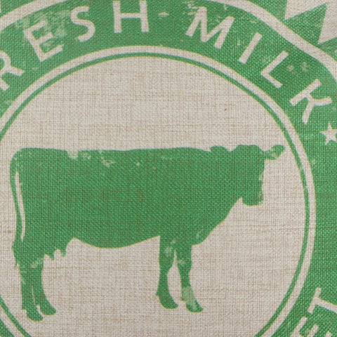 Image of Green Farmers Market Cow Pillow Cover