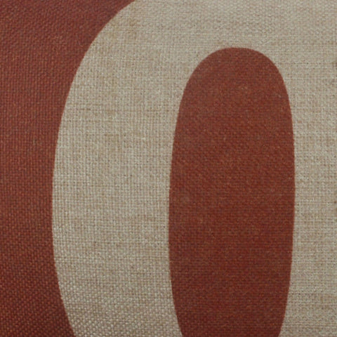 Vintage Zero Number Pillow Cover