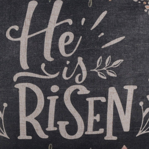 He is Risen Chalk Words Easter Pillow Cover